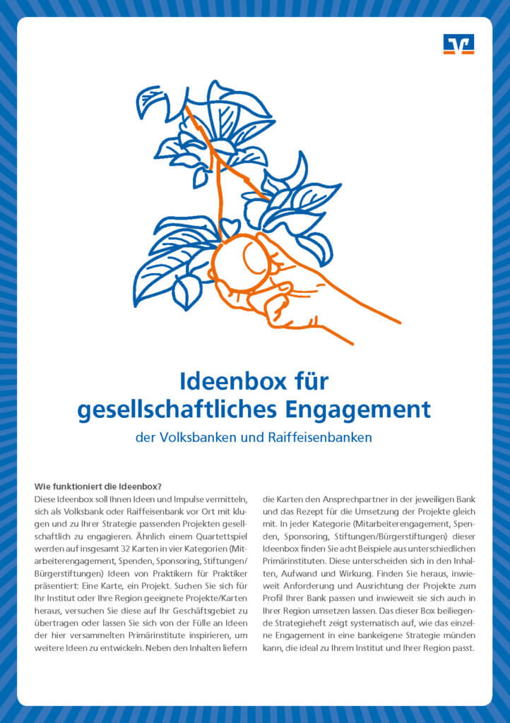 Cover Ideenbox Gesellschaftliches Engagement Volksbanken Raiffeisenbanken