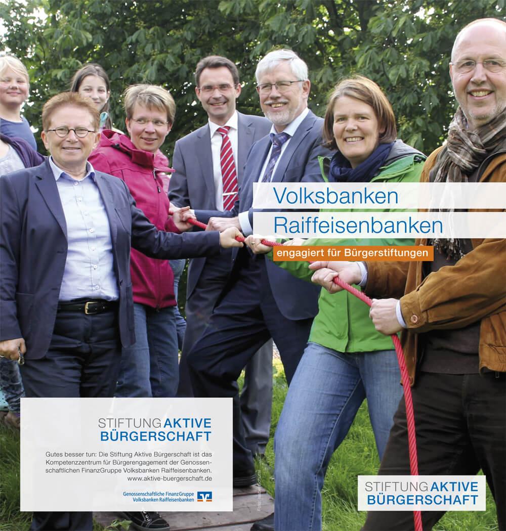Cover - Genossenschaftsbanken engagiert für Bürgerstiftungen