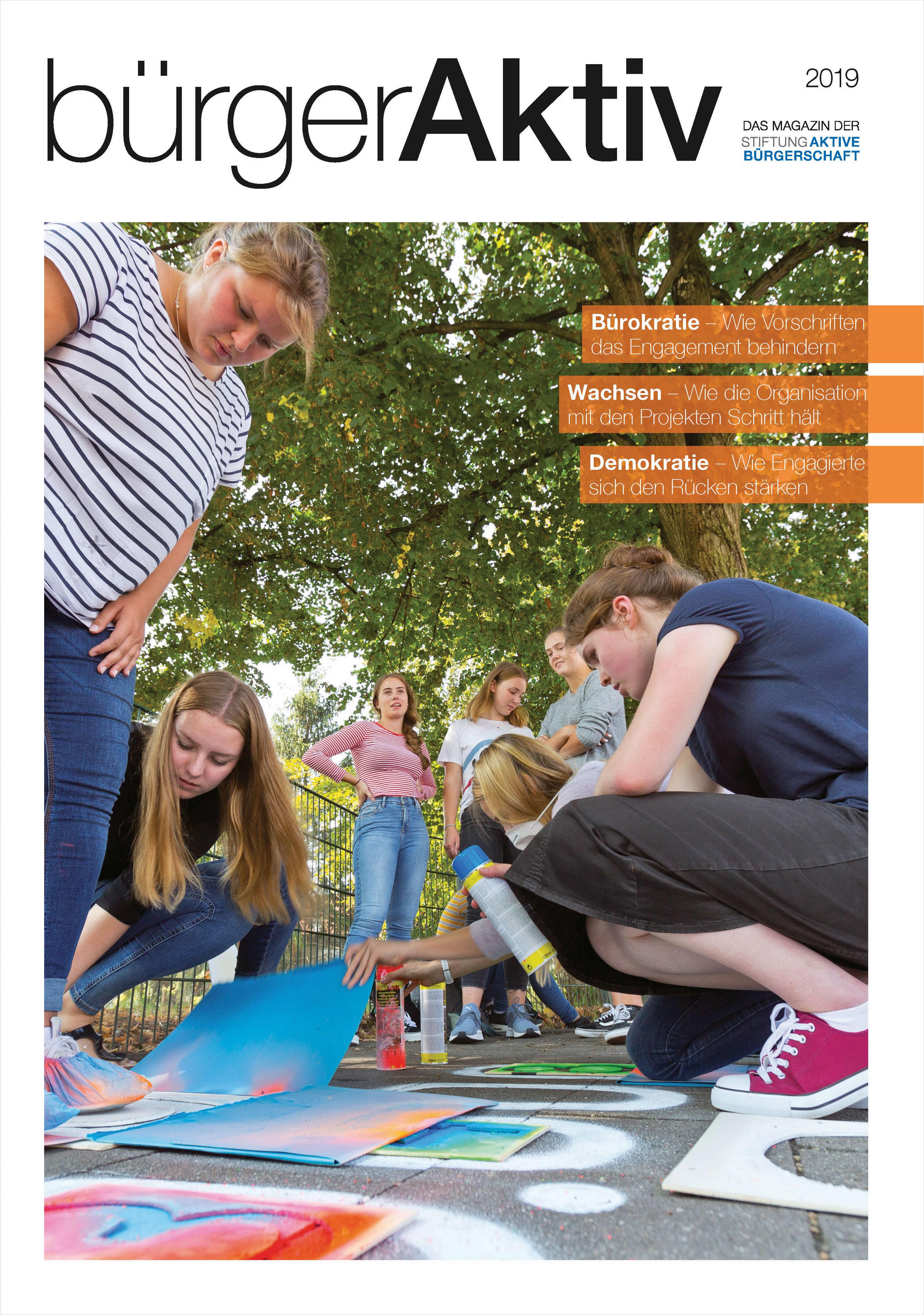 Titelseite bürgerAktiv Magazin 2019