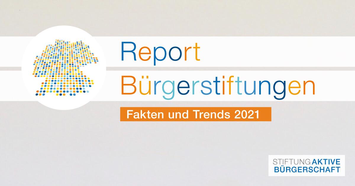 Report Bürgerstiftungen 2021 Logo